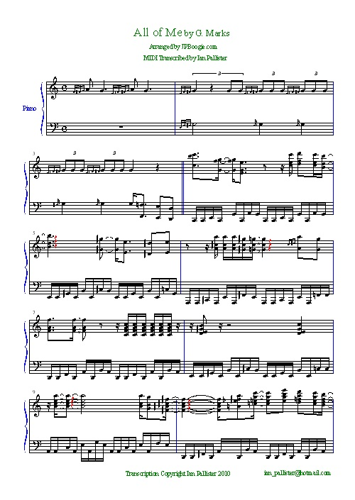 free jazz piano sheet music transcriptions pdf
